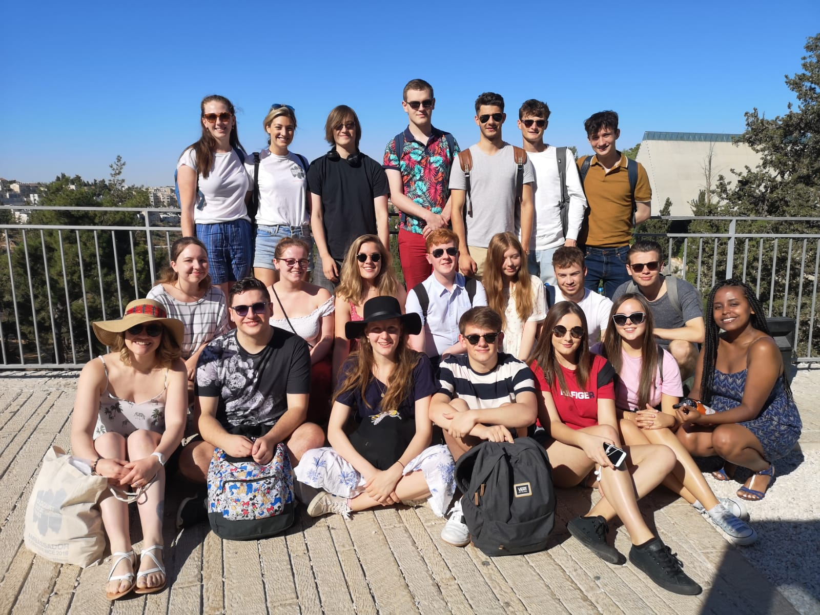 Group of ambassadors on a sunny day in Israel