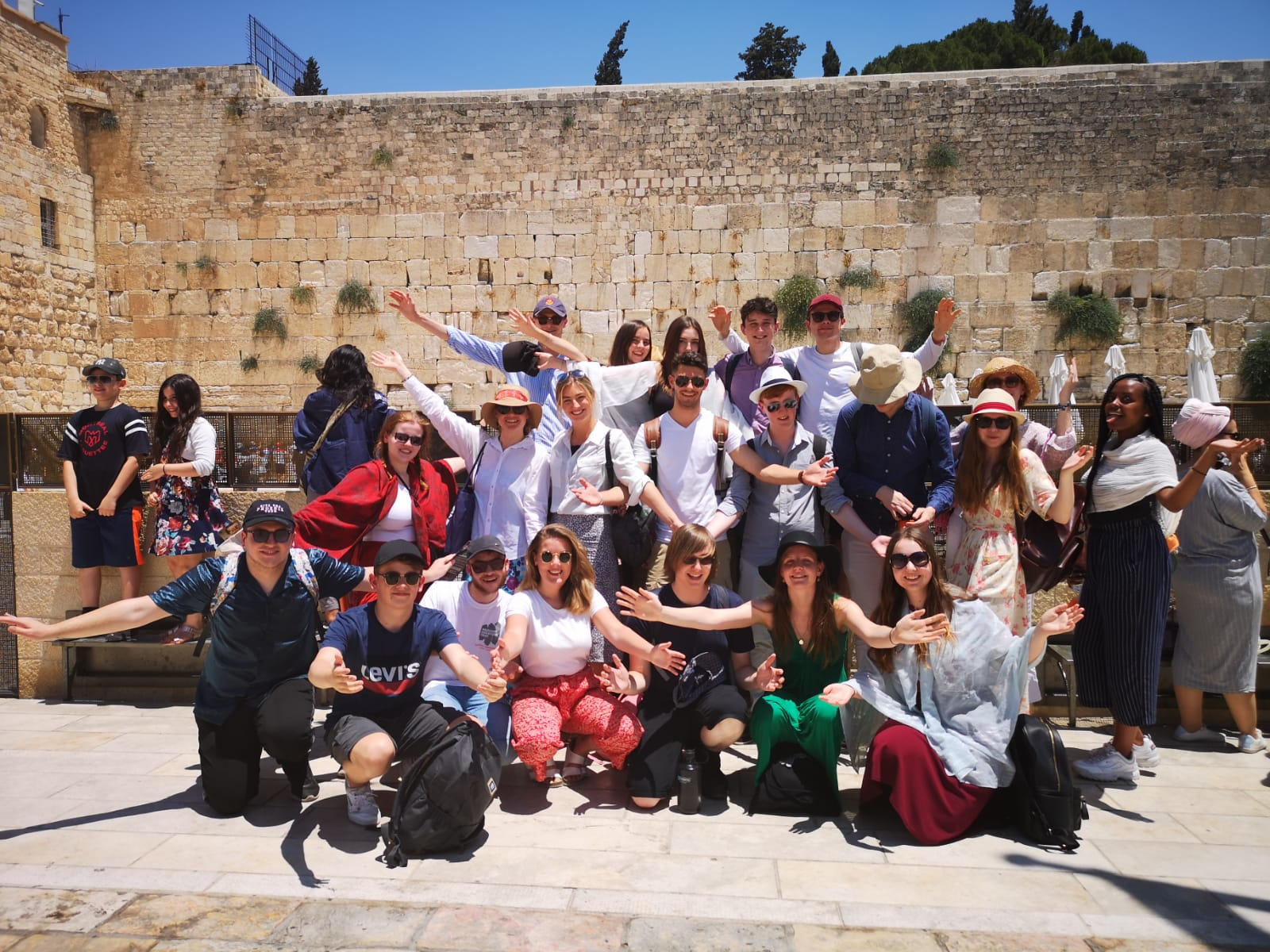 Our group in front of the Western Wall